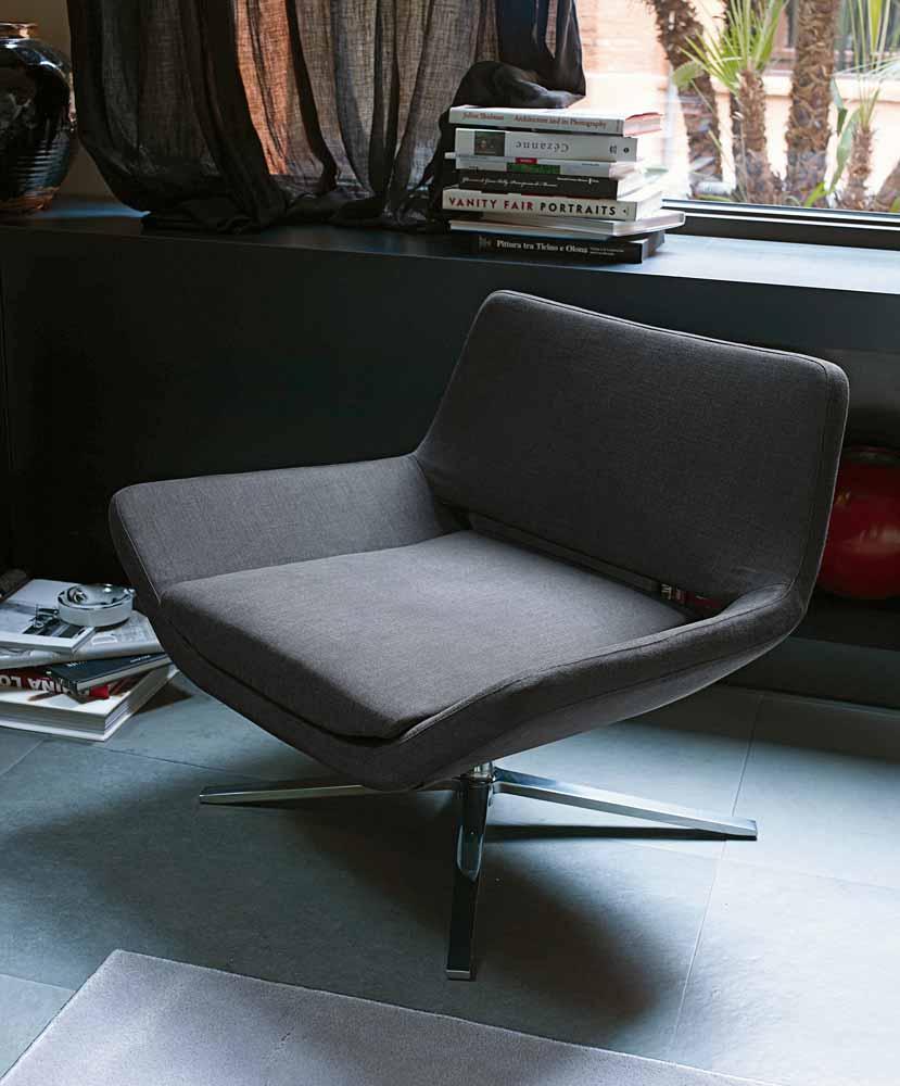 B&B Italia Metropolitan tuoli 84 cm harmaa