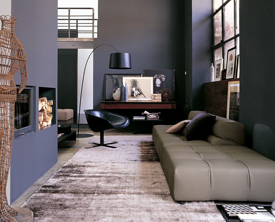 B&B Italia Tufty-Time moduulisohva ruskea nahka