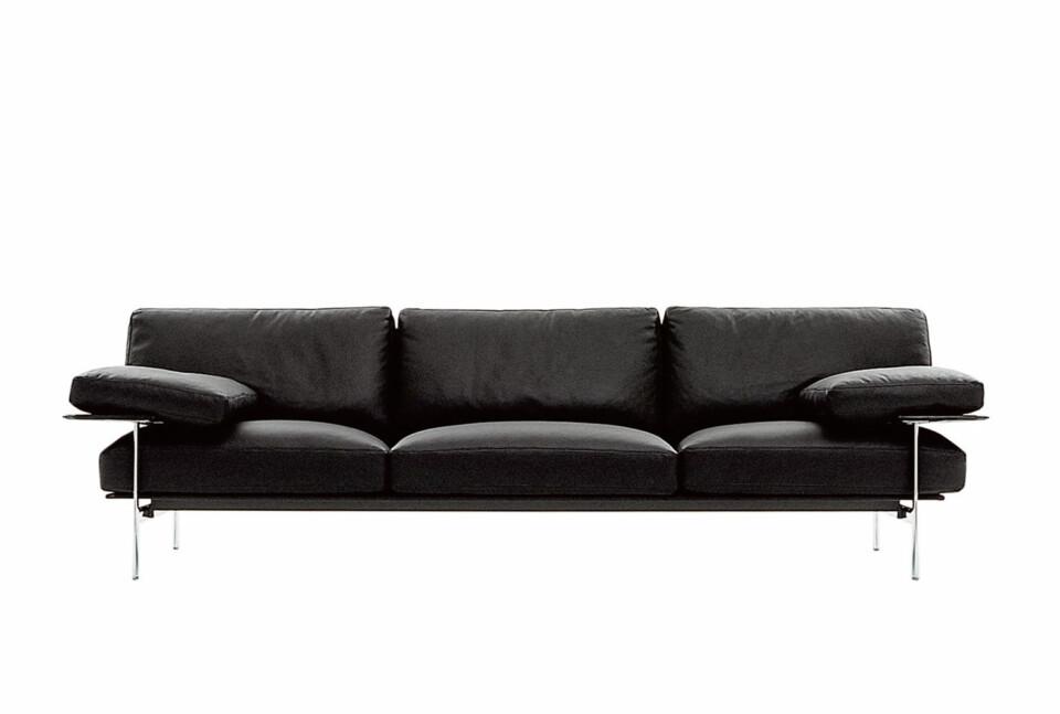 B&B Italia Diesis sohva kirkas kromijalka 277 cm
