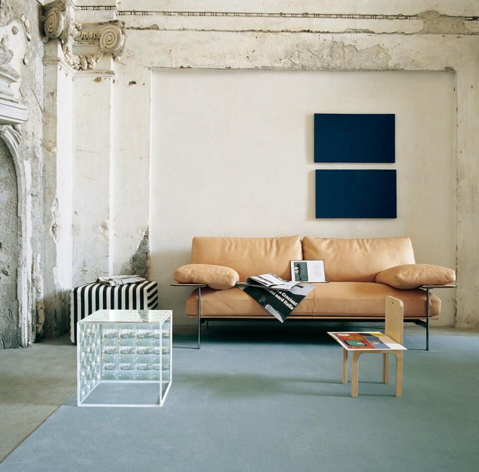 B&B Italia Diesis sohva ruskea nahka