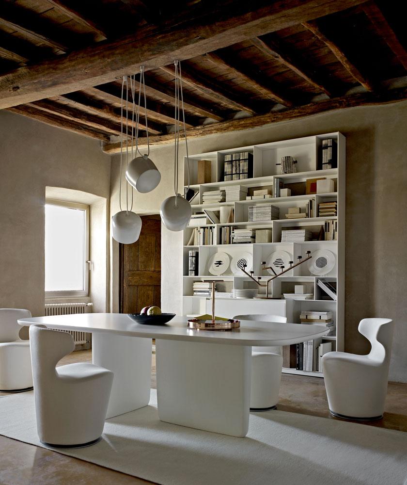 B&B Italia Tobi-Ishi ruokapöytä valkoinen 240 cm
