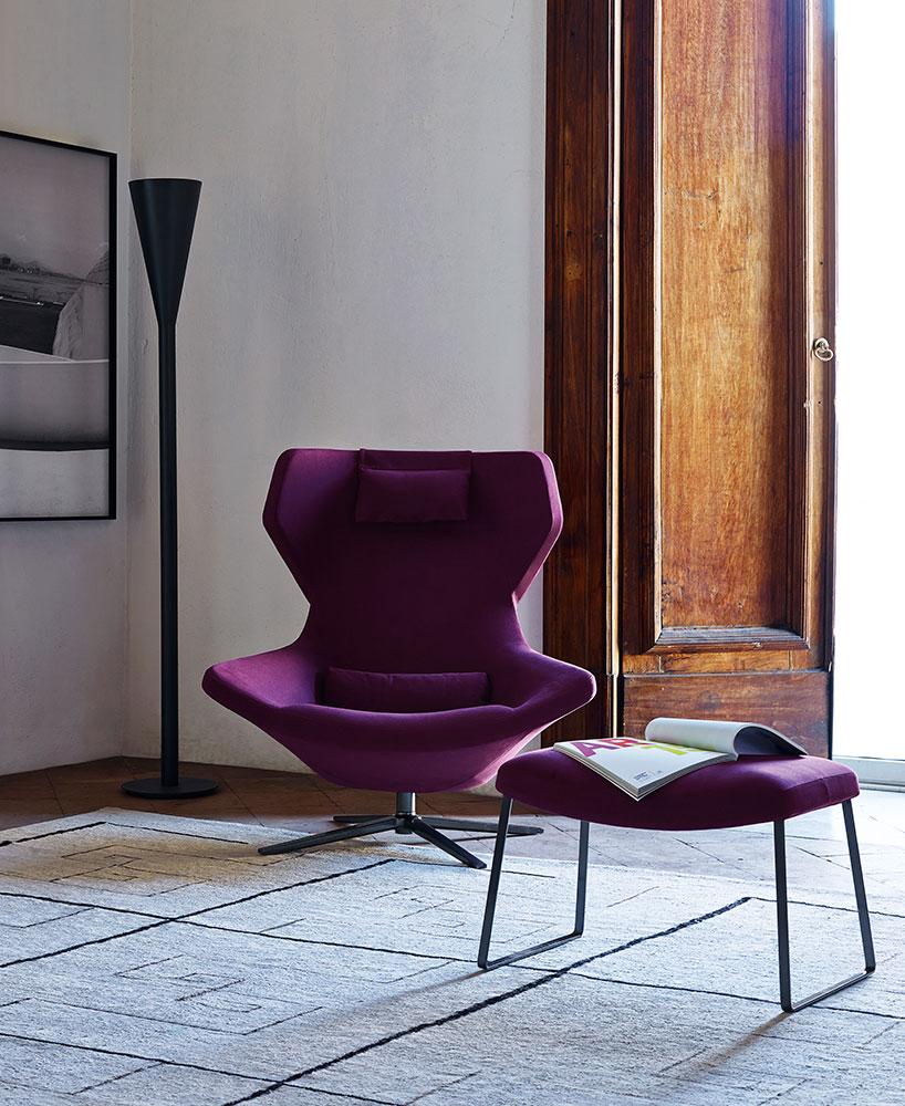 B&B Italia Metropolitan 14 korkea nojatuoli ja kelkkajalka-rahi