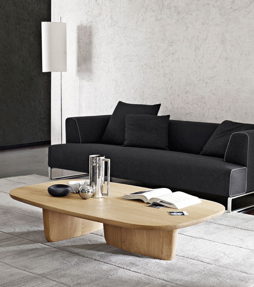 B&B Italia Tobi-Ishi sohvapöytä vaalea tammi olohuone 2