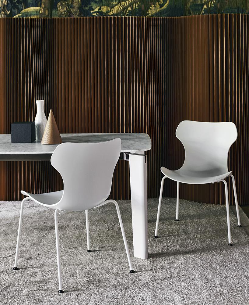 B&B Italia Papilio Shell tuoli valkoinen ruokahuone