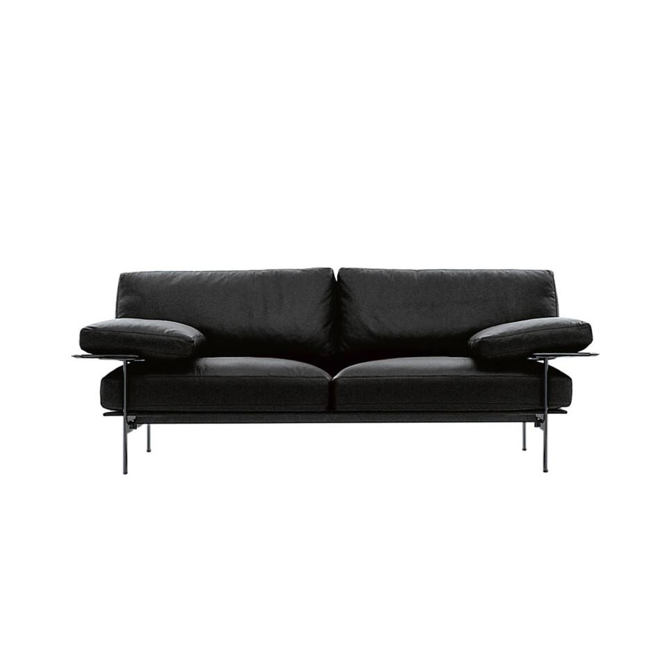 B&B Italia Diesis sohva musta kromijalka