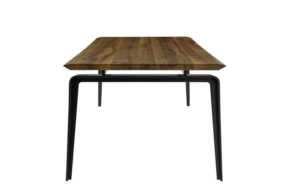 Ligne Roset Odessa suorakulmainen ruokapöytä puukannella