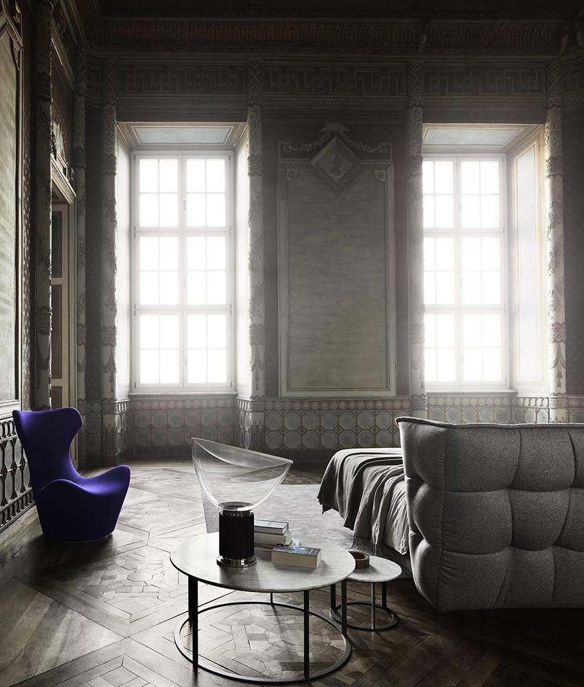 B&B Italia Mera pöytä, Husk sänky ja Papilio tuoli