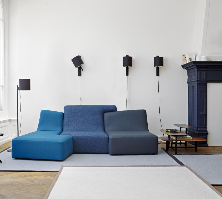 Ligne Roset Confluences 3-seat sofa Magnet lamp Pantographe