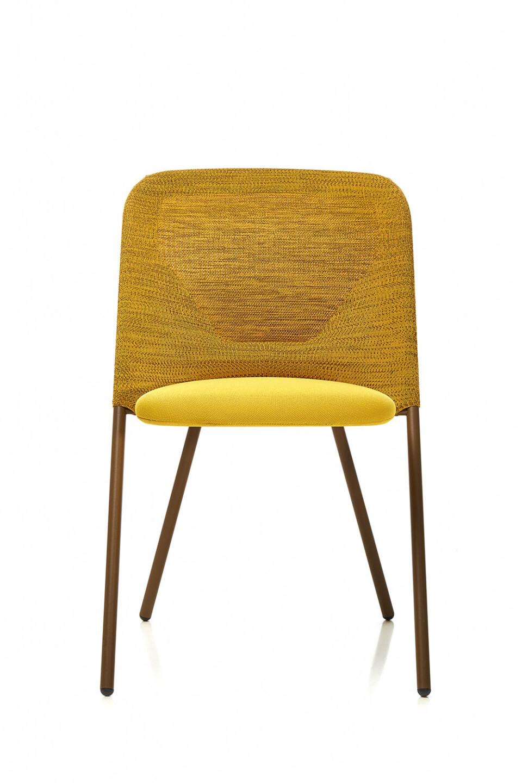 Moooi Shift Chair ruokatuoli keltainen edestä