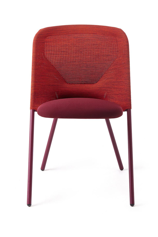 Moooi Shift Chair ruokatuoli punainen edestä