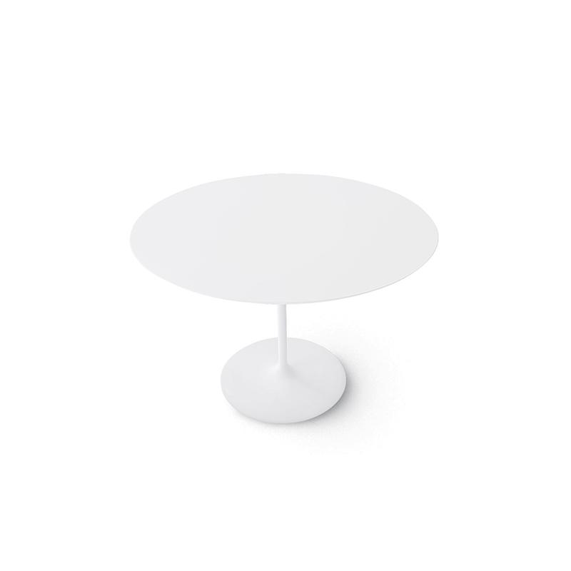 Arper Dizzie pöyreä pöytä valkoinen