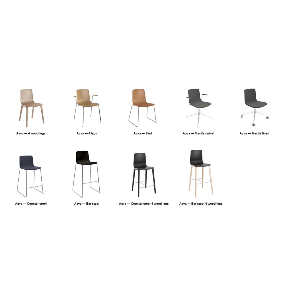 Arper italialainen tuoli kvadrat kankaalla